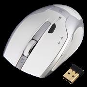 (1019606) Мышь Hama Milano белый оптическая (2400dpi) беспроводная USB для ноутбука (6but)