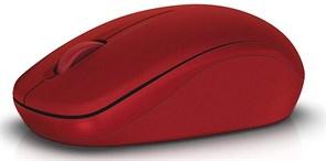 (1019605) Мышь Dell WM126 красный оптическая (1000dpi) беспроводная USB (3but)