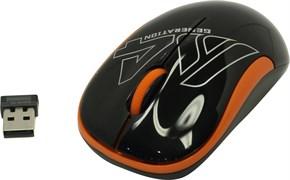 (1019598) Мышь A4 V-Track G3-300N черный/оранжевый оптическая (1000dpi) беспроводная USB для ноутбука (3but)