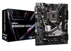 (1019632) Материнская плата Asrock B365M-HDV Soc-1151v2 Intel B365 2xDDR4 mATX AC`97 8ch(7.1) GbLAN+VGA+DVI+HD
