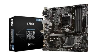 (1019639) Материнская плата MSI B365M PRO-VDH Soc-1151v2 Intel B365 4xDDR4 mATX AC`97 8ch(7.1) GbLAN+VGA+DVI+HDMI