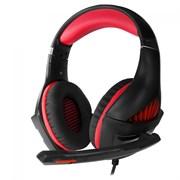 (1019661) Гарнитура игровая CROWN CMGH-2000 Black&red (Подключение jack 3.5мм 4pin + адаптер 2*jack spk+mic,Частотный диапазон: 20Гц-20,000 Гц ,Кабель 3.2м, Динамки 50мм, регулировка громкости, микрофон на поворотной ножке)