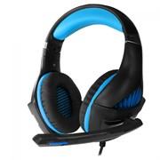 (1019662) Гарнитура игровая CROWN CMGH-2001 Black&blue (Подключение jack 3.5мм 4pin + адаптер 2*jack spk+mic,Частотный диапазон: 20Гц-20,000 Гц ,Кабель 3.2м, Динамки 50мм, регулировка громкости, микрофон на поворотной ножке)
