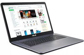 "(1019771) Ноутбук Asus VivoBook X705MA-BX014 Pentium Silver N5000, 4Gb, 1Tb, Intel UHD Graphics 605, 17.3"", HD+ (1600x900), Endless, grey, WiFi, BT, Cam"