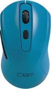 """(1019782) CBR CM 522 Blue, Мышь беспроводная, оптическая, 2,4 ГГц, 800/1200/1600 dpi, 6 кнопок и колесо прокрутки, технология """"бесшумный клик"""", ABS-пластик, цвет голубой"""