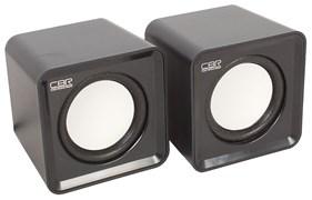 (1019787) CBR CMS 90 Black, Акустическая система 2.0, питание USB, 2х3 Вт (6 Вт RMS), материал корпуса пластик, 3.5 мм линейный стереовход, регул. громк., длина кабеля 1 м, цвет чёрный