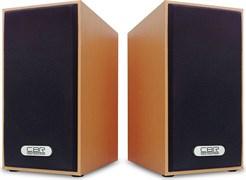 (1019788) CBR CMS 635 Brown, Акустическая система 2.0, питание USB, 2х3 Вт (6 Вт RMS), материал корпуса MDF, 3.5 мм линейный стереовход, регул. громк., длина кабеля 1 м, цвет светло-коричневый