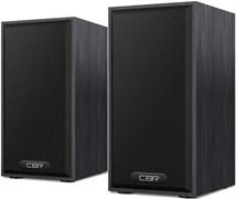 (1019789) CBR CMS 635 Black, Акустическая система 2.0, питание USB, 2х3 Вт (6 Вт RMS), материал корпуса MDF, 3.5 мм линейный стереовход, регул. громк., длина кабеля 1 м, цвет чёрный