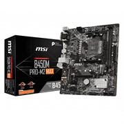 (1019882) Материнская плата MSI B450M PRO-M2 MAX Soc-AM4 AMD B450 2xDDR4 mATX AC`97 8ch(7.1) GbLAN RAID+VGA+DV