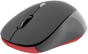 (1019821) Беспроводная компьютерная мышь Defender Dacota MS-155 чёрная (4 кнопки, 2000 dpi, 1 х AA)