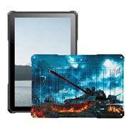 "(1019893) Планшетный компьютер BQ-1022L Armor PRO LTE+, print 08 (танк), 10.1"" IPS 1280*800 (16:10),  4х1.4 GHZ, 2GB+16GB, Android 9.0, 2xMini SIM, 2G/3G/4G LTE, WiFi, Bluetooth, GPS, камеры: 2.0 MP вспышка, + 0.3 MP, Micro SD, FM-радио, виброзвонок,"