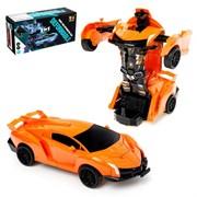 """(1019989) Робот-трансформер инерционный """"Автобот"""", трансформируется при столкновении ,  цвета микс 4524341"""
