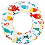 """(1019954) Круг для плавания """"Яркий"""" в ассортименте 61 см, от 6-10 лет, 59241NP 589361"""