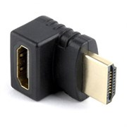 (1020048) Переходник HDMI-HDMI Cablexpert, 19F/19M, угловой соединитель 270 градусов, золотые ра
