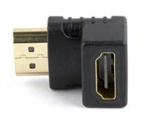 (1020049) Переходник HDMI-HDMI Cablexpert, 19F/19M, угловой  соединитель 90 градусов, золотые раз