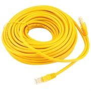 (1020063) Патч-корд UTP Cablexpert кат.5e, 15м, литой, многожильный (жёлтый)