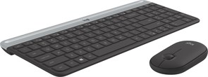 (1020089) Клавиатура + мышь Logitech MK470 GRAPHITE клав:черный/серый мышь:черный USB беспроводная slim