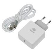 (1020081) Сетевое зар./устр. Digma QC3.0 3A (PD) универсальное кабель USB Type C белый (DGPD-18W-WG)