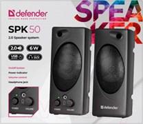 (1020145) Акустическая система 2.0 SPK 50 BLACK 65150 DEFENDER 6 Вт MDF