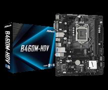 (1020143) Материнская плата B460 S1200 MATX B460M-HDV ASROCK, 1xM.2 | DDR4 x 2 слота | D-sub, DVI, HDMI |USB 3.2