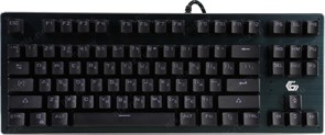 (1018057) Клавиатура механическая Gembird KB-G540L, USB, черн, переключатели Outemu Blue, 87 клавиши, подсветка Rainbow 9 режимов, FN, кабель тканевый 1.8м