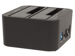 """(1020167)AgeStar 3UBT6(6G)(BLACK) USB 3.0 Докстанция 2x2.5""""/3.5"""" SATA HDD/SSD AgeStar 3UBT6-6G, пластик, черный, UASP, Clone"""