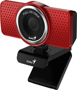 (1020158) WEB камера Genius ECam 8000 Red {1080p Full HD, вращается на 360°, универсальное крепление, микрофон, USB}  [32200001401]