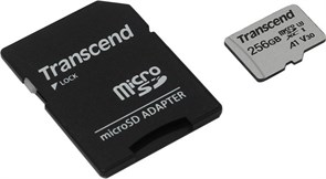 (1020213) Флеш-накопитель Transcend Карта памяти Transcend 256GB UHS-I U3A1 microSD with Adapter