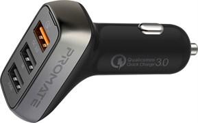 (1020188) АЗУ Promate Scud-35 2 USB 3.4A + USB QC 3.0, 35W (black)