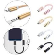 (1020191) Переходник USB Type-C to USB Type-C + AUX 3.5mm (rose gold)