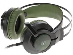 (1020284) Наушники с микрофоном A4 Bloody J450 черный/зеленый 2.2м мониторные (J450)