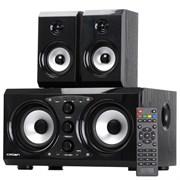 (1020831) Акустическая система 2.1 CROWN CMBS-620 (МДФ, Bluetooth, 32W+15W*2 (RMS)=62W; IR пульт,воспроизведение с USB, SD)