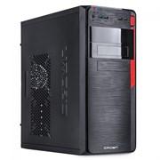 "(1020828) Корпус Miditower CROWN CMC-C503 black ATX (CM-500office)  (midi tower  ATX 390*175*410мм 0,4-0,5 мм SGCC, покрашенное шасси SGCC; USB2.0 * 2 + USB3.0 * 2, Mic * 1, HD audio * 1; слоты 5.25''*4+3.5""*7+2.5''*1; слоты раширения 6 шт;длина виде"