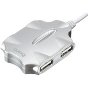(1021104) Разветвитель USB 2.0 Buro BU-HUB4-0.5-U2.0-Candy 4порт. серебристый