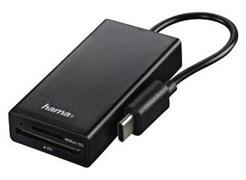 (1021103) Разветвитель USB-C Hama 1порт. черный (00054144)