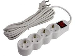 (1021147) Сетевой фильтр 5bites SP4W-150 4S / 3*0.75MM2 / 5M / WHITE
