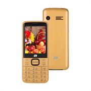 """(1021161) Мобильный телефон ARK Power 4 32Mb золотистый 2Sim 2.8"""" 240x320 Mocor 0.3Mpix"""