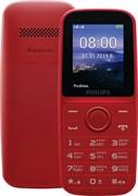 """(1021160) Мобильный телефон Philips Xenium E109 красный 2Sim 1.77"""" TFT 128x160"""