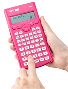 (1021131) Калькулятор научный Deli E1710A/RED красный 10+2-разр.