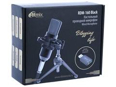 (1021309) Микрофон проводной Ritmix RDM-160 2.5м черный
