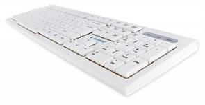 (1021460) Клавиатура Gembird KB-8354U, USB, бежевый/белый, 104 клавиши, кабель 1,45м