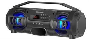 (1021540) Портативная акустическая система 2.0 G104 65104 DEFENDER 12 Вт, Bluetooth 5.0, FM, TWS, microSD/USB, LED дисплей, Светодиодная подсветка, 1500 мА·ч
