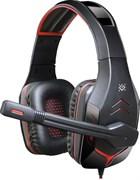 (1021536) Игровая гарнитура Excidium красный + черный, кабель 2,2 м DEFENDER