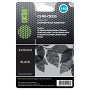 (1021574) Заправочный набор Cactus CS-RK-CB335 черный 2x30мл для HP DJ D4263/D4363/OJ J5783/J6413
