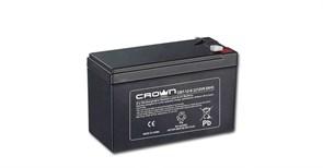 (1021563) Аккумулятор CROWN CBT-12-9.2 (Cвинцово-кислотный, напряжение 12В, ёмкость  9.2  А\Ч, размеры (мм)  151х65х100, вес 2,66 кг, материал корпуса - ABS-пластик, тип клеммы - F2 (Т2), срок службы 6 лет)