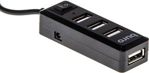 1018036 Разветвитель USB 2.0 Buro BU-HUB4-0.5L-U2.0 4порт. черный