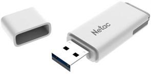 (1021793) Флеш Диск Netac U185 16Gb <NT03U185N-016G-20WH>, USB2.0, с колпачком, пластиковая белая