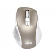 (1021780) Беспроводная мышь ASUS MW202 бело-золотистая (RF 2.4GHz, 4000 dpi, USB, 5 кнопокl, Optical, 90XB066N-BMU020)