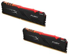 (1021770) Модуль памяти DDR 4 DIMM 32Gb PC25600, 3200Mhz, Kingston HyperX FURY RGB (Kit of 2), CL16 (HX432C16FB3AK2/32) (retail)