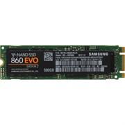 (1021768) Твердотельный накопитель SSD M.2 Samsung 500Gb 860 EVO Series <MZ-N6E500BW> (SATA3, up to 550/520MBs, 97000 IOPs, 3D TLC,  MJX, 22х80mm)